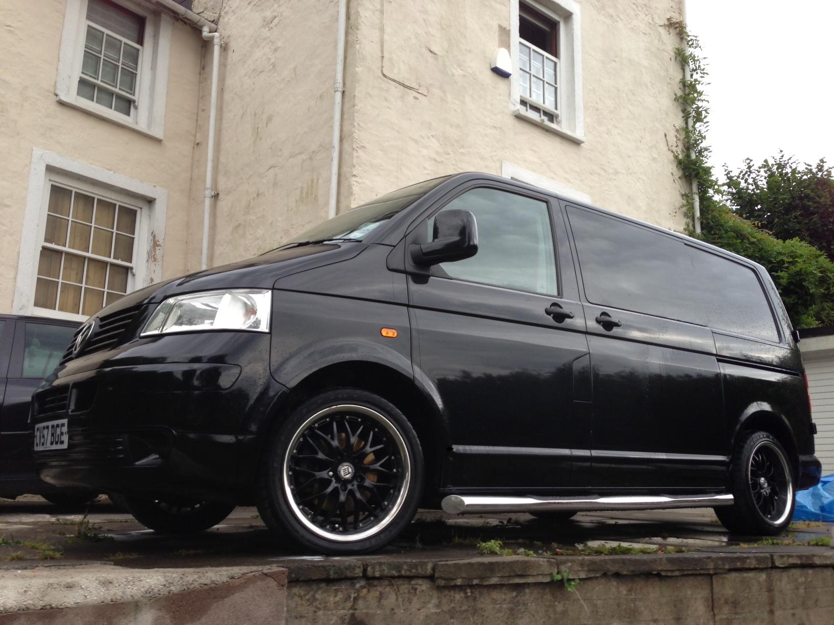 black vw transporter kombi vwbus t4 t5. Black Bedroom Furniture Sets. Home Design Ideas